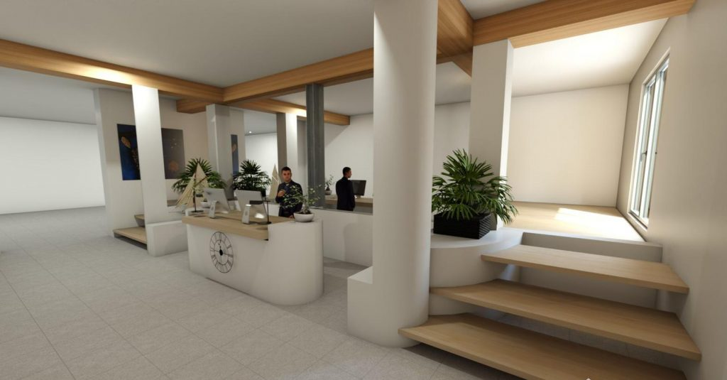 Espace accueil et bureau